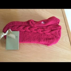 Ralph Lauren red wool socks . One size